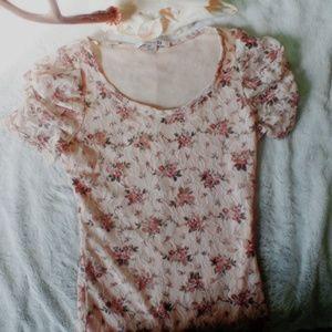 floral lace minidress ♡